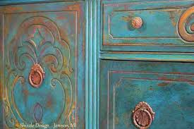 peacock blue furniture. Antique Buffet Painted In Peacock Blue, Furniture Blue A