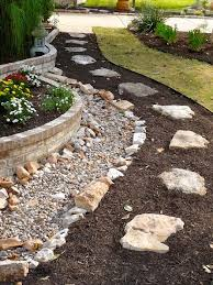 dry river rock for yard. Not really this version, but an idea