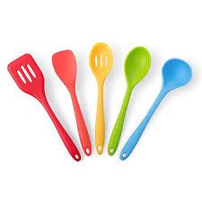 colorful kitchen utensils. Plain Kitchen Multi Colored Kitchen Utensils Premium 5 Piece Silicone Cooking  Set By   Throughout Colorful Kitchen Utensils