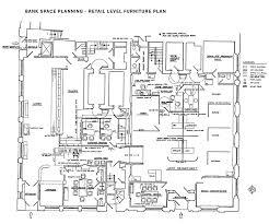 An Extensive Retail Floor Plan For A Bank