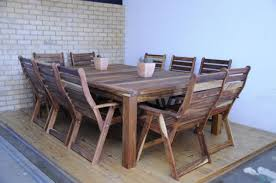 kiaat 10 seater table 10 a frame high back chairs
