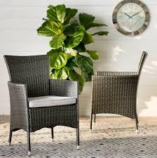 brayden studio carmack patio dining chair with cushion reviews wayfair