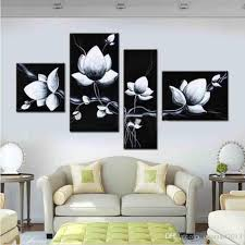 2018 hand painted oil wall art black white flowers bloom home decoration abstract floral oil painting on canvas from chinaart2013 36 19 dhgate com on black and white tulip wall art with 2018 hand painted oil wall art black white flowers bloom home