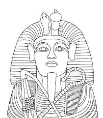 Small Picture King Tutankhamens Gold Coffin Coloring Page Egypt theme Party