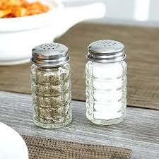 glass salt and pepper shakers authentic collection recycled green glass salt and pepper shaker with stainless