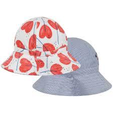 Catimini Baby Girls Reversible Sun Hat Hats Caps