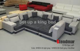 5PC NEW MODERN GREY MICROFIBER BIG SECTIONAL SOFA SET S150LG Buy