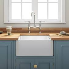 Double Farmhouse Sink With Isl And Sink Kitchen Farmhouse And Belfast Sink In Modern Kitchen