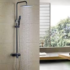 Pst At Schwarz Elegant Rainshower Duschsystem Duscharmatur
