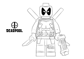 Lego Deadpool Coloring Pages Marvel For Kids To Print Pictures
