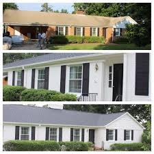special curb appeal before for paint brick house then paint brick house adds in painted brick