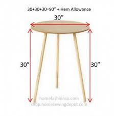 30 inch round decorator table com particle board