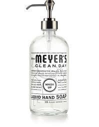 glass hand soap bottle