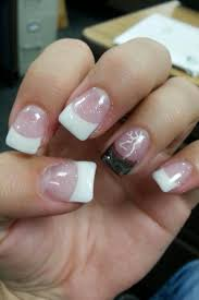 Browning Symbol Nail Designs Classy White Tips And A Camo Accent Nail With The Browning