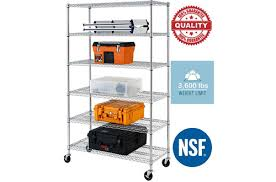 best office 6 layer tire commercial steel wire metal shelving rack