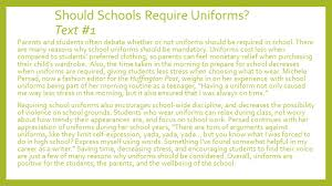 argument essay writing ppt video online should schools require uniforms text 1
