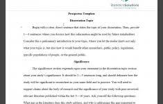 Dissertation Proposal Template Apa Harvard Latex Sample 6th