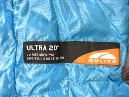 FS: Golite Ultra 20 Quilt Long/Wide 21oz! 800 down 10.6oz fill ... & lable Adamdwight.com