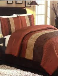 orange and brown bedding. Modren Brown Get Information On 4 Piece Luxury Faux Silk Queen Comforter Set Stripe Orange  Brown Compare Prices And Gives You The Features Details Buying Guides  To And Brown Bedding