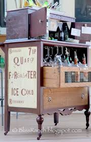 diy repurposed furniture ideas. diy an old dresser turned portable bar use chicken wire in hollowed out drawer front fun project by bliss ranch diy repurposed furniture ideas