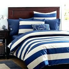 navy stripe quilt rugby duvet cover sham stone blue ticking bedding set