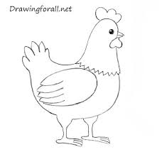 Small Picture How to Draw a Chicken for Kids DrawingForAllnet