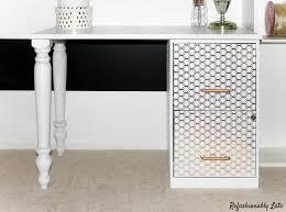 diy file cabinet desk. Delighful Desk DIY File Cabinet Desk  Wwwrefashionablylatecom  Intended Diy S