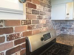 brick veneer flooring. Kitchen Backslash: Brick Veneer Flooring Interior Thin Tinting Decorative Bricks