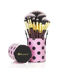 bh cosmetics 11 pcs pink a dot brush set