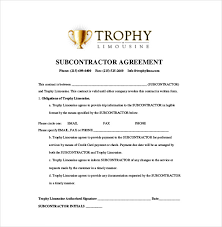 14+ Subcontractor Agreement Templates – Free Sample, Example, Format ...