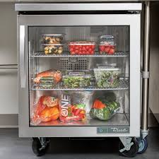 image of true tuc 27g hcfgd01 27 undercounter refrigerator with glass door pertaining to undercounter