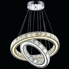 crystal ring chandelier diamond led lamp modern light fixture circle hanging item type chandelie