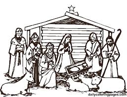 Small Picture christmas nativity coloring 1 printable christmas nativity
