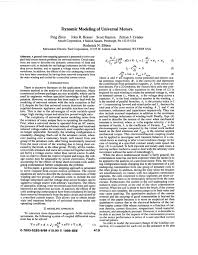 pdf dynamic modeling of universal motors
