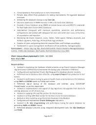Oracle Dba Cv Oracle Apps Dba Resume Spacesheep Co