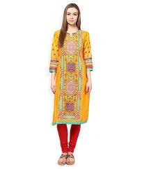Biba Yellow Kurti - Buy Biba Yellow Kurti Online at Best Prices in ...