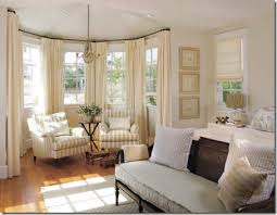 bay window treatments rods mitered in corners