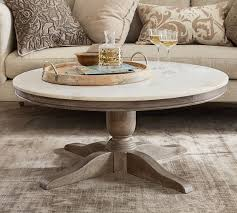 alexandra marble round coffee table