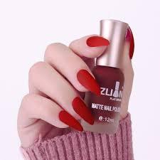 12ml Dark Wine Red Matte Nail Polish Fast Dry Long Lasting Dull Nail Art Varnish Lacquer Manicure Nail Color At Vova