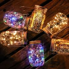 Hanging Lantern Lights String Us 9 5 20 Off Solar Mason Jar Light 20led Waterproof Ip65 Glass Hanging Lantern Outdoor String Lamp Fairy Decoration For Home Party Garden In
