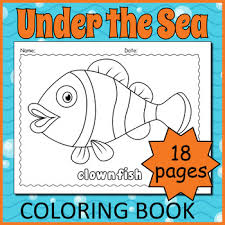 Printable Marine Life Coloring Pages By Drag Drop Learning Games