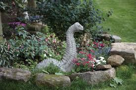 garden figures. Brachiosaurus Dinosaur Statue - Large Garden Ornament Figures