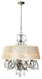 chandelier with shade candelabra semi transpa shades old glass gold arm crystals 5 silk lamp pro in