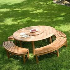 garden niche or placed at a round table outdoor furniture tops teak backless curved bench