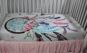 Dream Catcher Crib Bedding Impressive Dream Catcher Baby Bedding Dream Catcher Fitted Crib Sheet Etsy