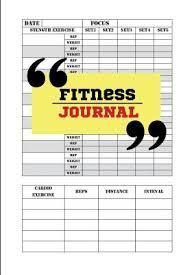 9781539915096 Fitness Journal Workout Log Food Journal 6x9 Pj