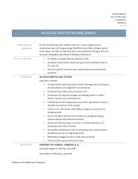 Sample Autocad Drafter Resume Autocad Drafter Resume Sample And Job Description Online