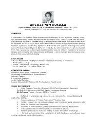 Software Engineer Resume Sample Resume Sample For Testing Profile Best Of Software Engineer Resume 38