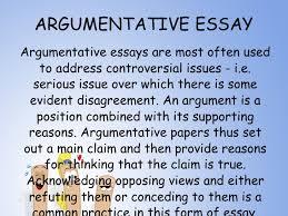 type of argumentative essay argumentative essays the purdue university online writing lab