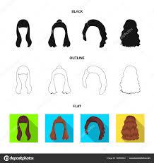 ヘアスタイルの長い赤と他の種類戻るヘアスタイルはブラック